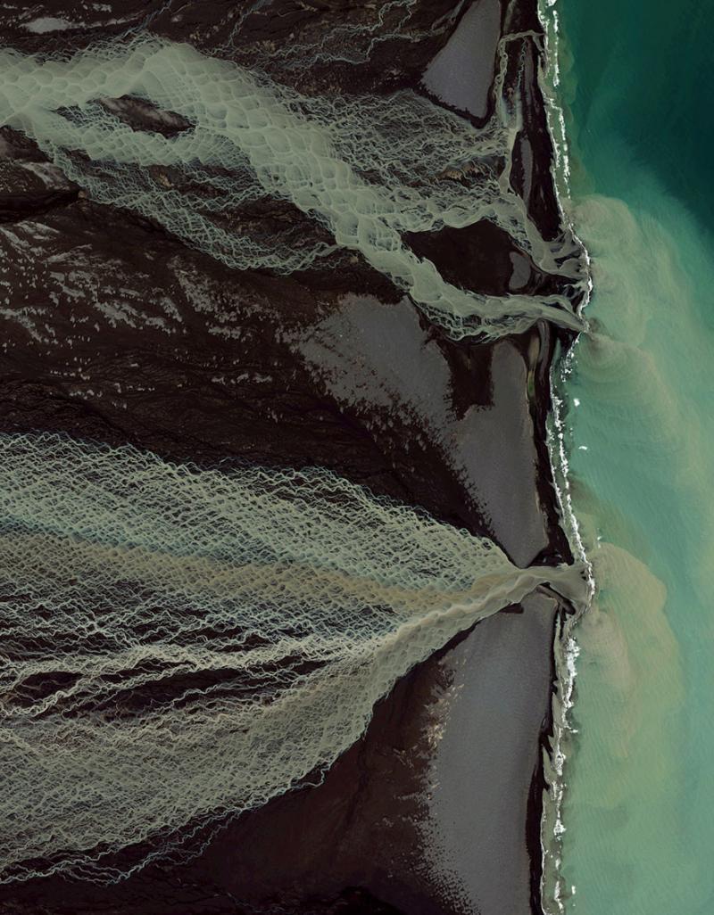 Amazing #Satellite Photos from the #World - Glacial Melt, Skafta River,#Iceland - Image 78