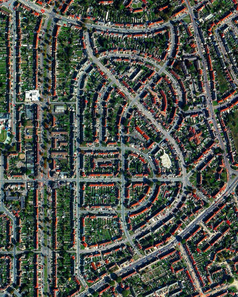 Amazing #Satellite Photos from the #World - #London Suburb Of Dagenham, #UK - Image 59