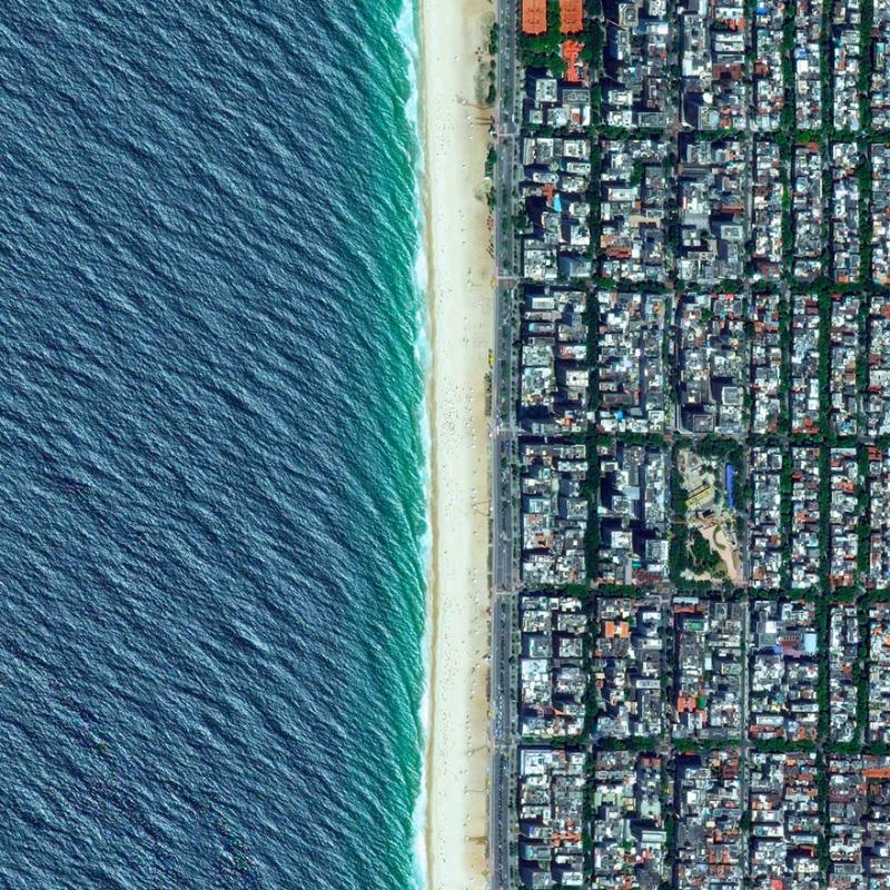 Amazing #Satellite Photos from the #World - Ipanema Beach, Rio De Janeiro, #Brazil - Image 60