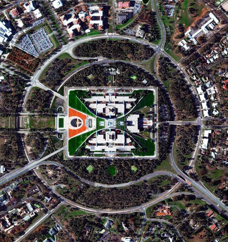Amazing #Satellite Photos from the #World - Capital Hill, #Canberra , #Australia - Image 89