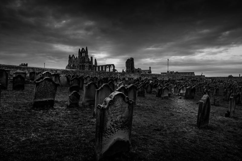 صور تحتوي #متقلبة_المزاج #يوركشاير #مقبرة #فناء_الكنيسة #ويتبي_الدير