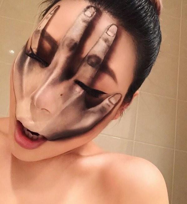 فنانة #الماكياج # Mimi_Choi تقوم بأعمال مبهرة من #خداع_البصر #Illusion باستخدام #ماكياج فقط #بنات #فن - 13