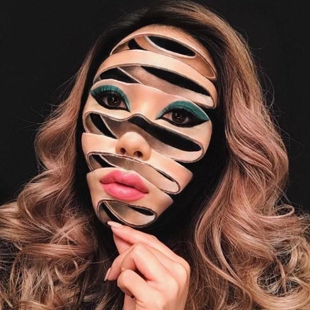 فنانة #الماكياج # Mimi_Choi تقوم بأعمال مبهرة من #خداع_البصر #Illusion باستخدام #ماكياج فقط #بنات #فن - 7