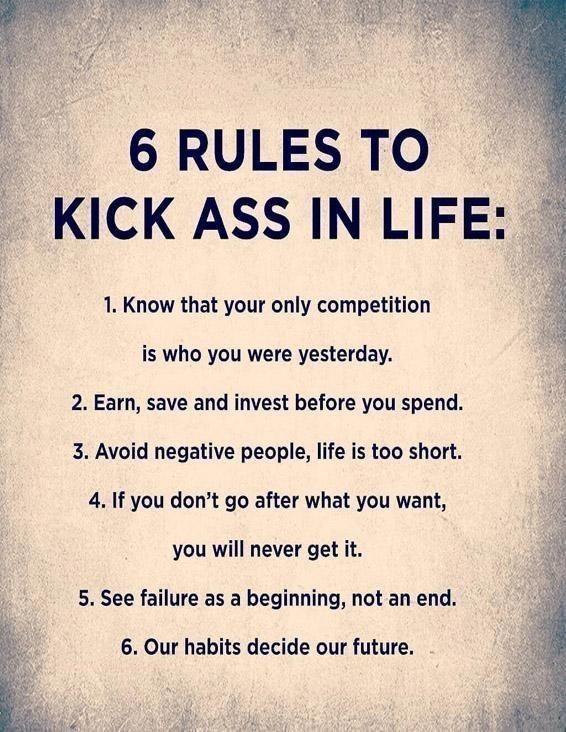 Kick Ass rules in life #Quotes