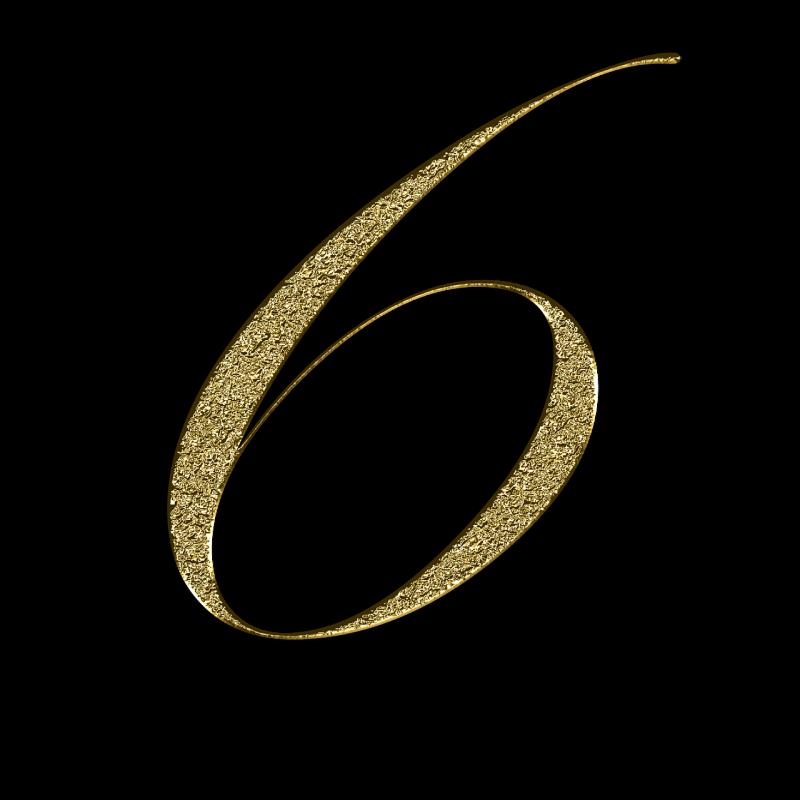 صور تحتوي #رقم #ذهبي #ذهب #ستة #تعلم #6 #الخط #تدريب