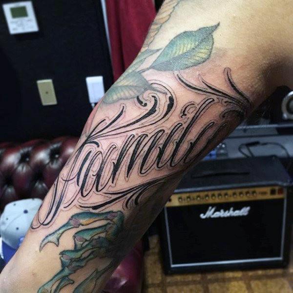 #وشوم #Tattoos منوعة تحمل رموز وعبارات عن #العائلة - 89