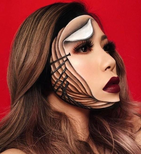 فنانة #الماكياج # Mimi_Choi تقوم بأعمال مبهرة من #خداع_البصر #Illusion باستخدام #ماكياج فقط #بنات #فن - 1