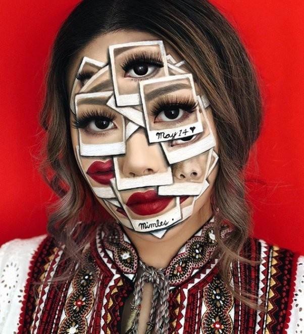 فنانة #الماكياج # Mimi_Choi تقوم بأعمال مبهرة من #خداع_البصر #Illusion باستخدام #ماكياج فقط #بنات #فن - 5