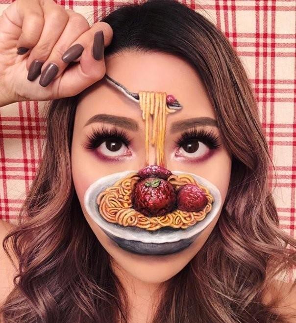 فنانة #الماكياج # Mimi_Choi تقوم بأعمال مبهرة من #خداع_البصر #Illusion باستخدام #ماكياج فقط #بنات #فن - 4