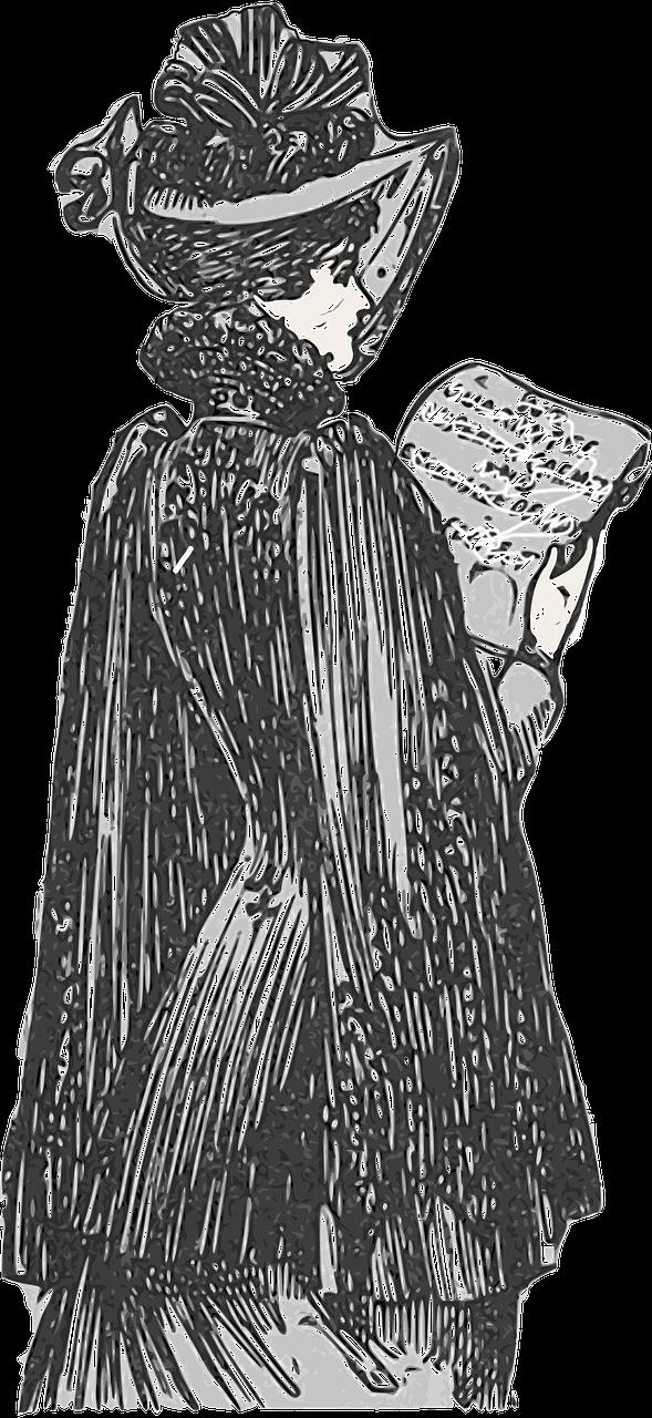 صور لـ توضيح عتيق سيدة رسم قديم النساء 1920