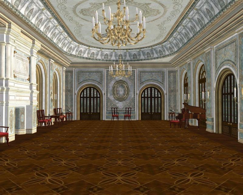 صور تحتوي #هندسة_معمارية #قاعة_رقص #قصر #مهيب #ملكي