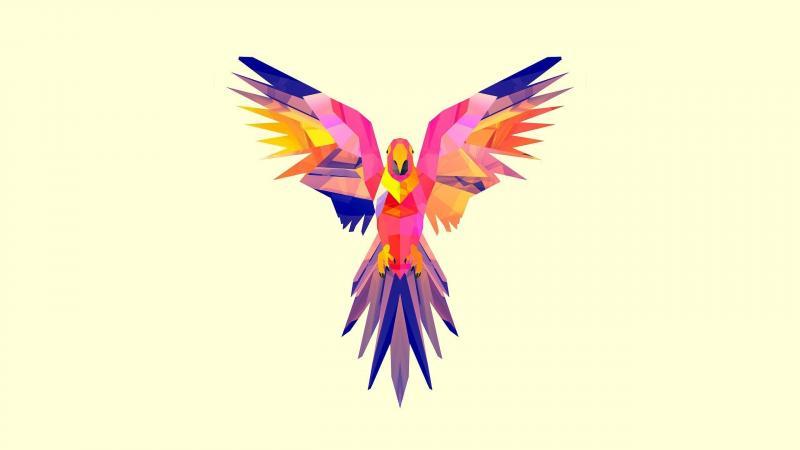 #خلفيات #طيور مرسومة بطريقة هندسية #Geometric_Birds عالية الوضوح #حيوانات - 9
