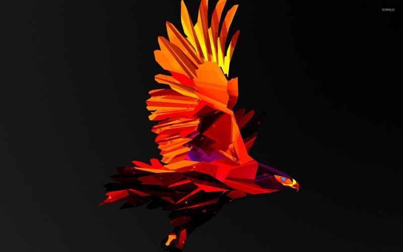#خلفيات #طيور مرسومة بطريقة هندسية #Geometric_Birds عالية الوضوح #حيوانات - 10