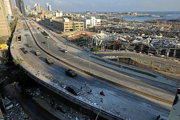صور متداولة لحجم الدمار الناتج عن انفجار ميناء #بيروت في #لبنان - 15
